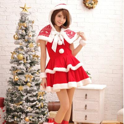 ノルディックサンタコスプレクリスマスセクシー衣装3点セットcostume916衣装