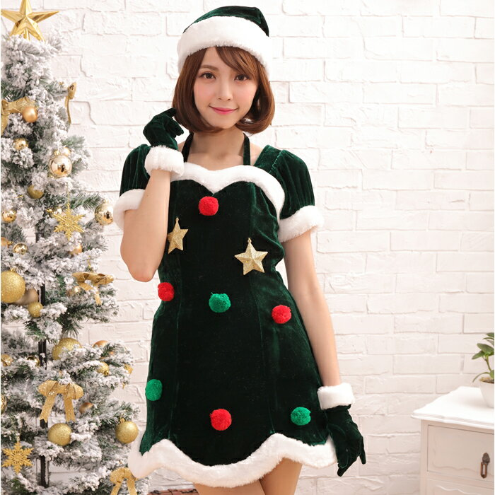 【Mフリー】サンタコスチューム コスプレ クリスマス セクシー衣装 3点セット costume923 衣装