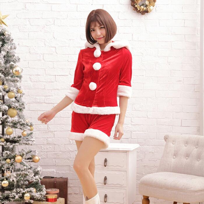 【Mフリー】サンタコスチューム コスプレ クリスマス セクシー衣装 2点セット z517 衣装