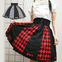 ハロウィン コスプレ 制服 ゴスロリ ロリータ ゴシック ダイヤ柄スカート 発表会 サイズあり ハロウィンコスチューム …