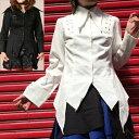 店内50%OFF〜開催中♪ ロングポイントシャツジャケット ゴスロリ ロリータ パンク コスプレ 2色展開 m〜4Lサイズあり p129