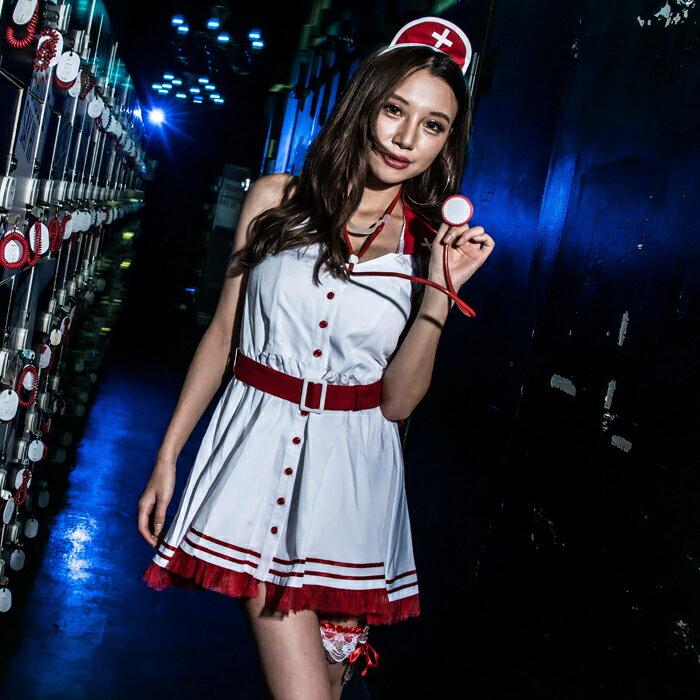 女医 ナース 4点セット M〜2Lサイズあり costume627【dl_bodyline】 衣装