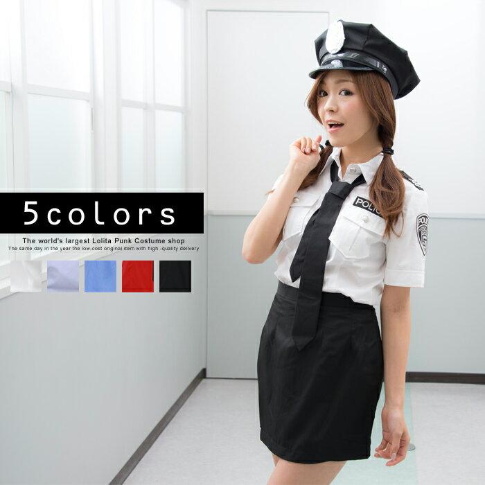 ハロウィン コスプレ ポリス衣装 M〜4Lサイズあり 全5色展開 costume844【dl_bodyline】 衣装