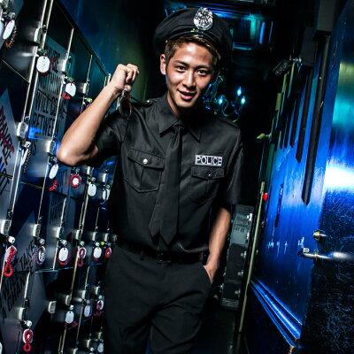ポリス警察官衣装コスプレメンズハロウィン男性用M〜Lサイズあり7点セットcostume920ハロウィン衣装