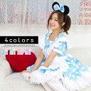 ハロウィンコスプレ 水玉メイド メイド 3点セット costume935 衣装
