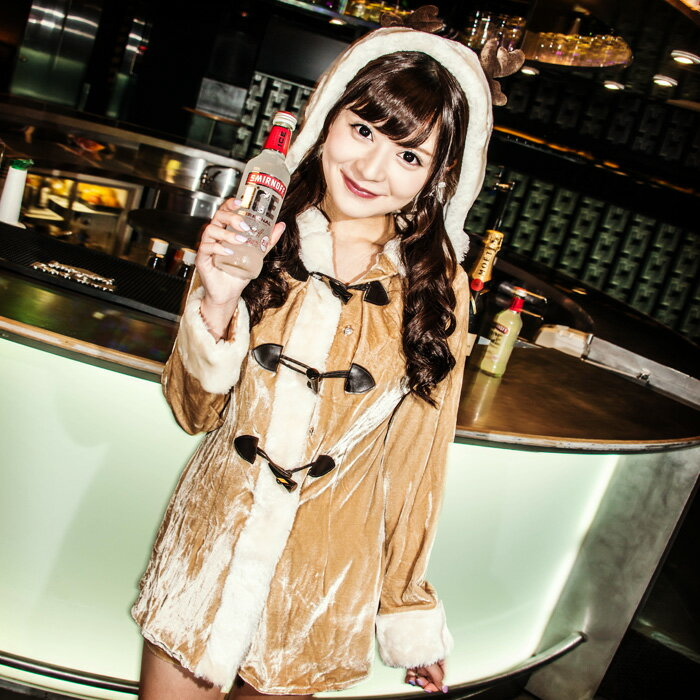【Mフリー】トナカイラヴァ—ズ サンタ コスプレ クリスマス セクシー衣装 M〜Lサイズあり 2点セット costume892 衣装
