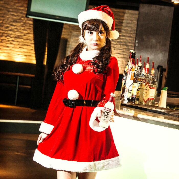 【Mフリー】イノセントサンタ コスプレ クリスマス セクシー衣装 3点セット costume917 衣装
