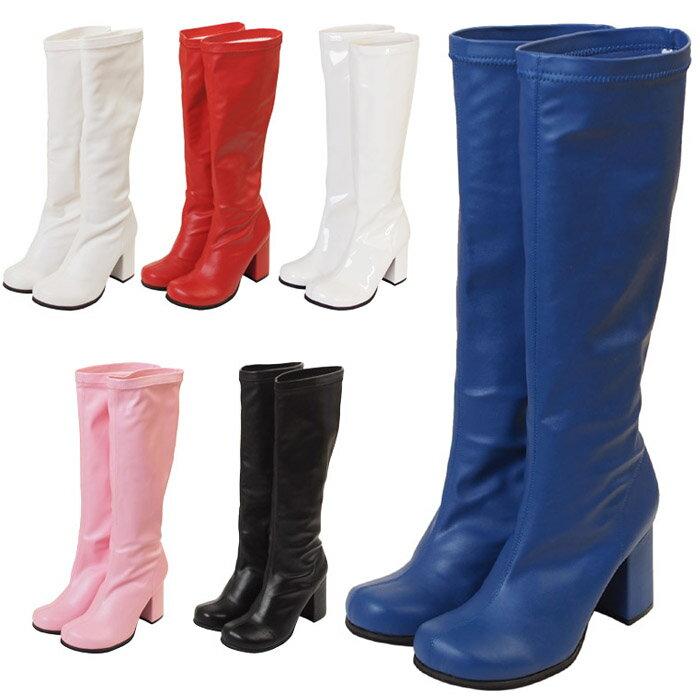 キャラクターブーツロング ブーツ パンプス 靴 シューズ コスプレ 22.5〜25.0サイズあり 6色展開 s528【dl_bodyline】 衣装