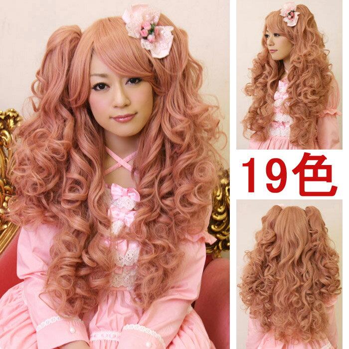ウイッグ フルウィッグ 耐熱 wig カラー展開 ゆるふわ ロング ツインテール コスプレ w089 衣装