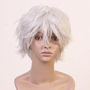 銀魂 坂田銀時風ウイッグ フルウィッグ アニメ 耐熱 wig  ショート コスプレ w191 衣装