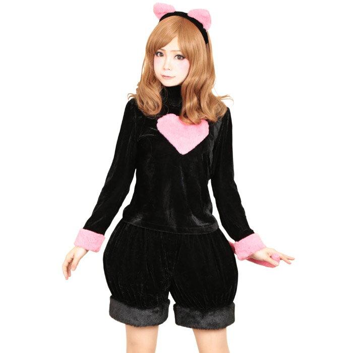 ハロウィン コスプレ ハロウィンコスプレ 黒猫 4点セット セクシー こすぷれ はろういん z089 衣装