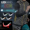 BM LED band NEONLED safety band Neon type LED LED belt glitter band outdoor arm LED band armband