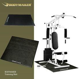 トレーニングマット(PVC) 1m×2m【BODYMAKER ボディメーカー】 筋トレ 腹筋 体幹トレーニング トレーニング バーベル ウエイトトレーニング トレーニングマシン 怪我防止 床保護