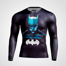 BM・GEAR BATMAN ロングスリーブ【BODYMAKER ボディメーカー】ジャストフィット 吸汗 速乾 伸縮性 クールダウン バットマンコラボ コンプレッションウェア