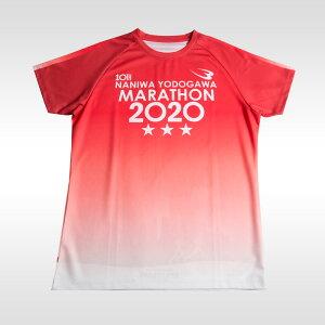 なにわ淀川マラソンシャツ【BODYMAKER ボディメーカー】機能性ウェア 速乾タイプ ルーズタイプ 吸汗 クールダウン トップス シャツ ランニング ジョギング マラソン スポーツウェア トレーニ