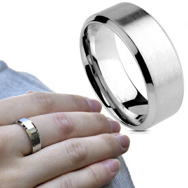 シンプル つや消し Brushed 選べるリング幅 ステンレス リング 指輪 メンズ レディース ユニセックス ステンレスアクセサリー ノンアレルギー【BodyWell】