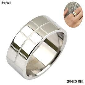 升目 ステンレスリング 指輪 ステンレスアクセサリー 金属アレルギー ノンアレルギー ユニセックス【BodyWell】