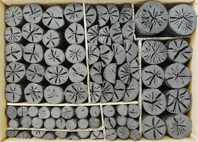 楢炭(なら炭) 風炉用茶の湯炭道具炭8手前組炭(種炭入り)約3.5Kg入り 超お勧め!