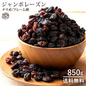 レーズン 大粒 ジャンボレーズン 850g 送料無料 フレーム種 [ ほしぶどう 干しぶどう ドライフルーツ 乾燥 果物 大容量 間食 低脂質 ] 1kgより少し少ない850g お取り寄せグルメ