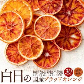 ドライフルーツ 送料無料 白日の国産ブラッドオレンジ 30g 無添加 砂糖不使用 国産 愛媛県産 ブラッドオレンジ オレンジ 国産ブラッドオレンジ ノーワックス 柑橘 乾燥果実 ドライ フルーツ 白日 国内加工 お試し サイズ