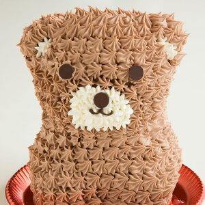 プレゼント アニマル ケーキ 立体 くまケーキ ( ショコラ味 ) [ 送料無料 冷凍便 アニマルケーキ 動物ケーキ くま 贈り物 お祝い 立体ケーキ 動物 キャラクター バースデーケーキ 誕生日 かわ