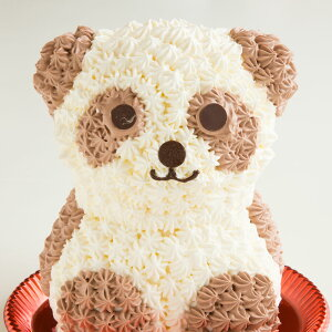 プレゼント アニマル ケーキ パンダケーキ ( ショコラ味 ) 送料無料 冷凍便 / 動物 キャラクター バースデーケーキ 誕生日 かわいい ギフト 贈答 お取り寄せスイーツ
