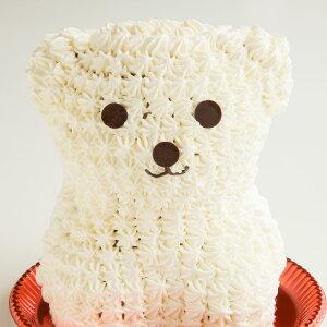 しろくまケーキ ( プレーン ) 送料無料 冷凍便 / 動物 くま アニマルケーキ キャラクターケーキ バースデーケーキ 誕生日 ケーキ 立体 マドレーヌ 生クリーム デコレーション かわいい ギフト