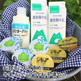 ギフト お中元<牛乳&ヨーグルト>」 セット ギフト 内祝い お礼 お返し 送料無料 ミルク お誕生日 牧成舎 コロナ 応援 健康