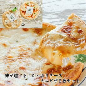 冷凍食品 <選べるミニピザ2枚>チーズ 冷凍ピザ セット 牧成舎 ギフト 内祝い プレゼント お礼 お返し パーティー 便利 誕生日 飛騨 古川