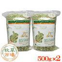 牧草市場 USチモシー1番刈り(プレミアム)牧草 ダブルプレス 1kg (500g×2パック)