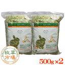 牧草市場 アルファルファプレミアム(牧草)1kg (500g×2パック)