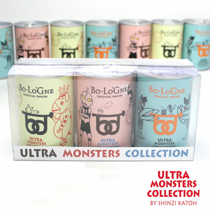 ウルトラマン缶deボローニャ 3缶セット |3年6ヶ月保存保存食 パン 缶詰め 非常食 長期保存