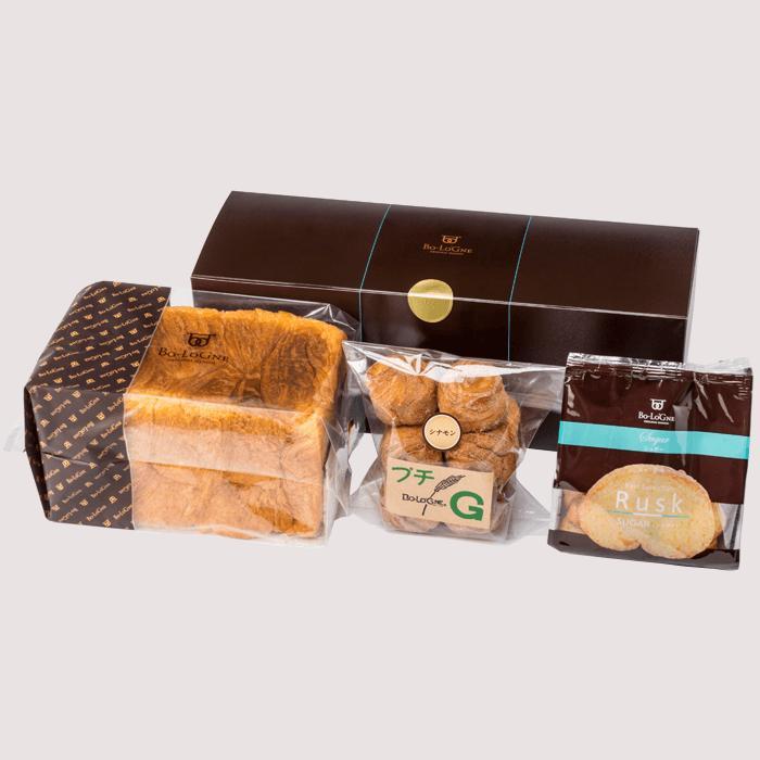 デニッシュ食パン ボローニャ ラスク&デニッシュ2000円ギフトセット 敬老の日ギフト 誕生日プレゼント メッセージ 内祝い