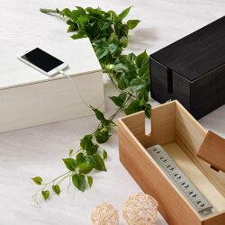 コード・収納・ケーブルボックス・パソコンケーブル収納・天然木製・桐・木製・送料無料・ケーブル・まとめる・配線・隠し・隠す・ボックス・テーブルタップボックス・おしゃれ・ウォールナット・ブラック・ホワイト・白・ヴィンテージ・インテリア