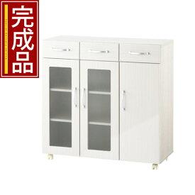 キッチン収納 ワゴン 両開き 完成品 全3色 KKANCBJ01120