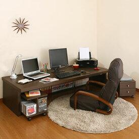 オフィスデスク 収納 木製デスク 机 パソコンデスク PCデスク パソコンラック 学習机 学習デスク フロアデスク ホワイト 白 ブラウン L ikea i おしゃれ