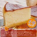 【魔法の口解け・まろやか食感】★ふわとろチーズケーキ【5号(15cm)】お家でデコレーション♪お歳暮などパーティやプレゼント用ケーキの土台にも