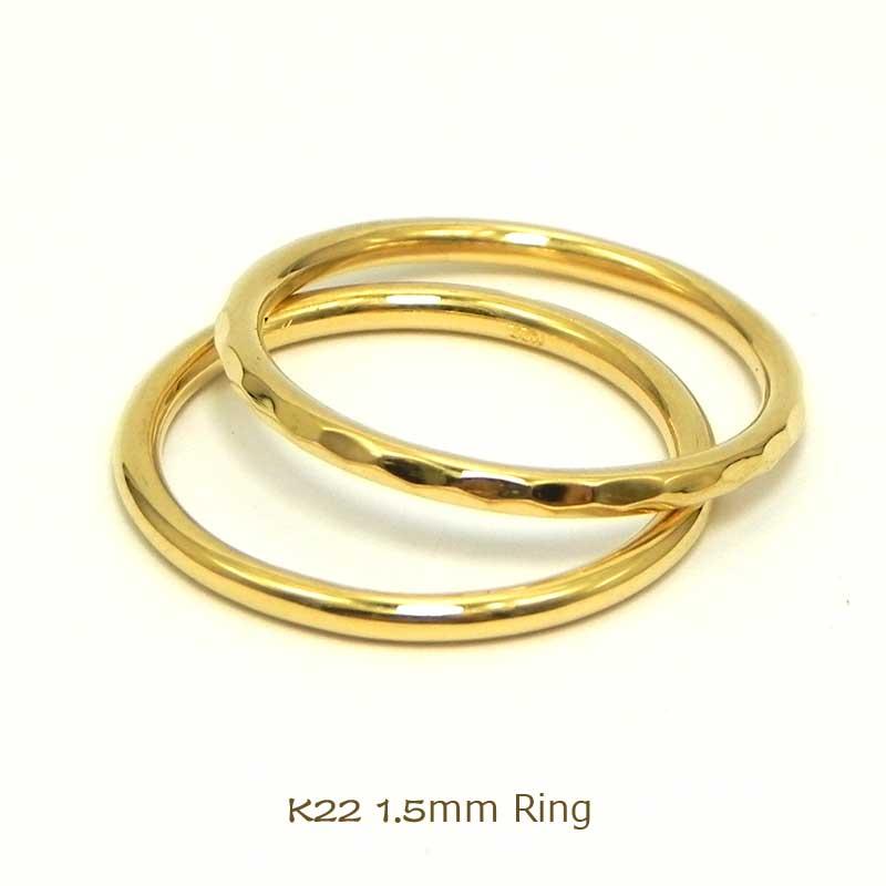 撫子1.5ミリ幅丸線リング手作り鍛造リング細い指輪 華奢 指輪ピンキ-リング結婚指輪 ペアリングお守りリング金属アレルギー対策