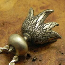 ★Silver925スナジヒメツチグリペンダントkinoko-monoシルバーペンダントきのこ雑貨きのこアクセサリー銀無垢いぶし仕上げ