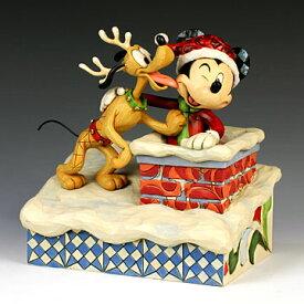 ENESCO エネスコ ディズニーコレクション サンタミッキー&プルート(煙突)#4023543 #ens009050