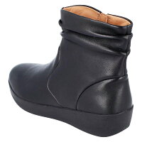 fitflopフィットフロップK10SKATEBOOTIE-LEATHERレザーショートブーツブラック2018秋冬カジュアル送料無料