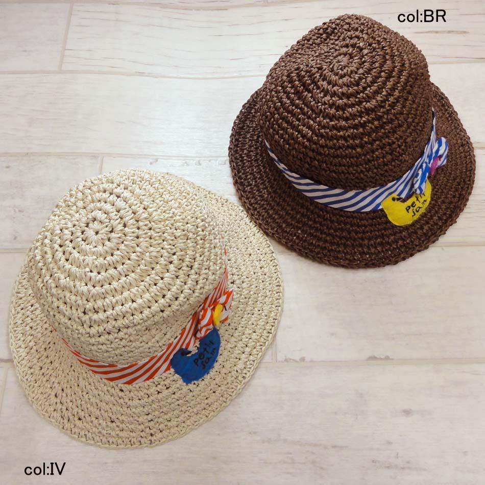 【55%off SALE】【petit jam プチジャム】P268017☆とりさんのペーパーハット♪紐付きのお帽子☆りぼんがかわいく、とてもやわらかい感じのお帽子です👒【ベビー&キッズ服】×メール不可