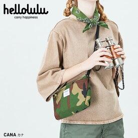 ハロルル Hellolulu CANA(カナ)コンパクトユーティリティバッグ ショルダーバッグ CAMO【送料無料】[斜めがけ カバン かばん 小さめ キークリップ付 サコッシュ 撥水 DURAFLEX 旅行 野外フェス アウトドア]
