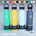 ハイドロフラスク/Hydro Flask 24 oz Standard Mouth ステンレスボトル(709ml)【送料無料】[24オンス スタンダードマウス マグボトル …