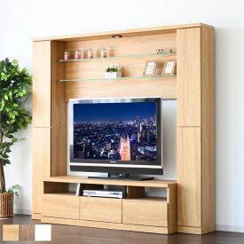ハイタイプ テレビ台 テレビボード 壁面 LED リビングボード 大型テレビ対応 TVボード 大容量 フルオープン ガラス棚 幅190cm 【kyusyu_hl_p2】