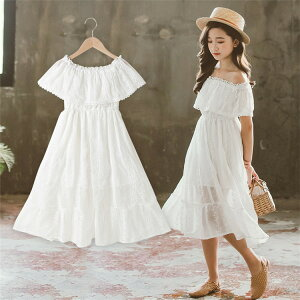 韓国子供服 女の子 ワンピース 白ワンピース ロング ドレス 女の子 レース ドレス ワンピース 子供 夏 ワンピース ビーチ 海 ワンピース