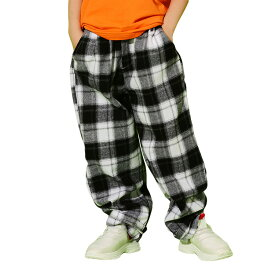 キッズダンスヒップホップ パンツ チェック柄 ダンス衣装 パンツ 女の子 男の子 トレーナー ダンス サルエル 120-180