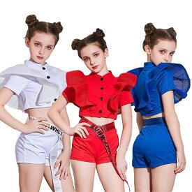 チアガール ダンス 衣装 ヒップホップ へそ出し キッズダンス衣装 セットアップ キッズ チアガール パンツセット 女の子 ダンス 衣装 キッズ ダンス 衣装 上下 ジャズ 韓国 子供 ダンスウェア おしゃれ 激安