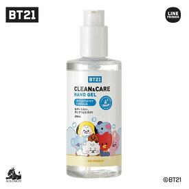 BT21 公式グッズ【クリーンアンドケア ハンドジェル 300ml】CLEAN&CARE HANDGEL アルコール 70% 手指 洗浄 2020 衛生 感染 予防 保湿 モイスチャー ベタつかない BT21ハンドジェル