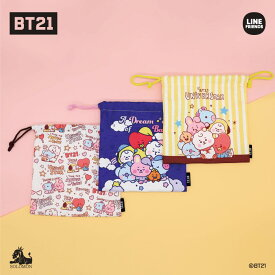 BT21 公式グッズ【モバイルポーチ】mobile pouch 巾着